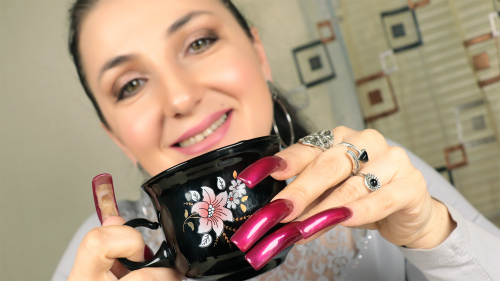 Photosession ❤️ Valentine's - Long Nails & Tea with chocolates
