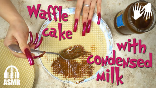 🎂 Waffle cake with condensed milk 💅 Long nails