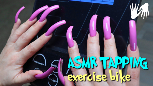 BIKE tapping 🚲 LONG NAILS ASMR