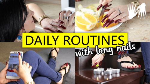 How I do things with long nails 🚀 DAILY ROUTINES