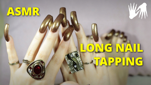 💅 ASMR NAIL TAPPING 💍 rings long nails