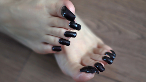 Long black toenails. Photosession for video (23.02.2019)