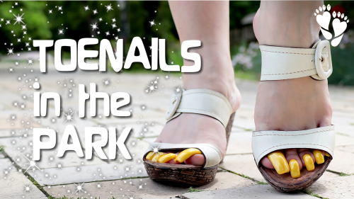 Long Yellow TOENAILS in the PARK