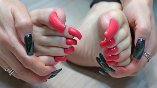 Photosession for video pedicure nails (part 2)